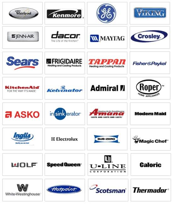 name brand appliances